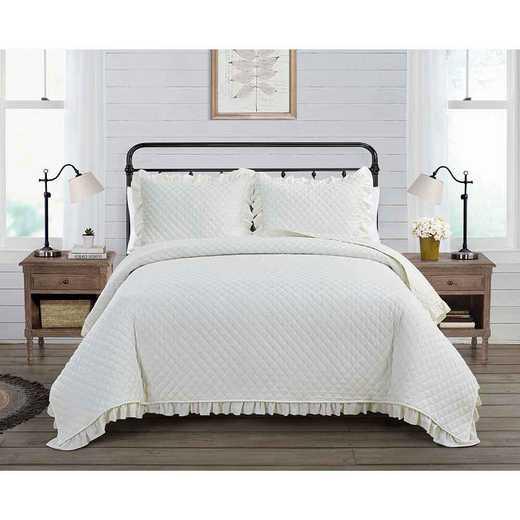 VCNY Home Farmhouse Savannah Quilt Set White