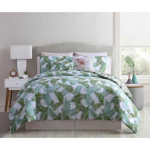 IEA-10C-IN-BLUSH: VCNY Home Tropical Leila Reversible Comforter Set Blush