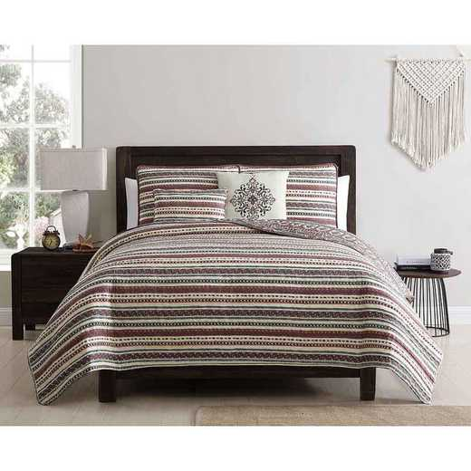 VCNY Home Menkis Quilt Set Red