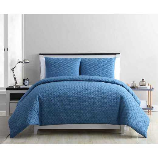 MYK-3DV-IN-BLUE: VCNY Home Mykonos Duvet Set Blue