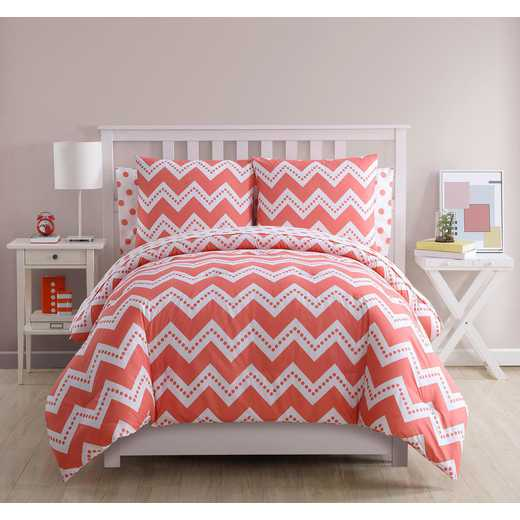 Leigh Chevron Polka Dot Comforter Set