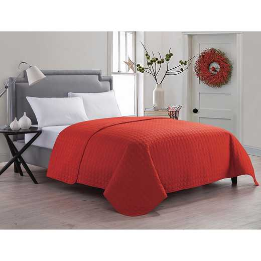 Jackson Embossed Circle Quilt- Red