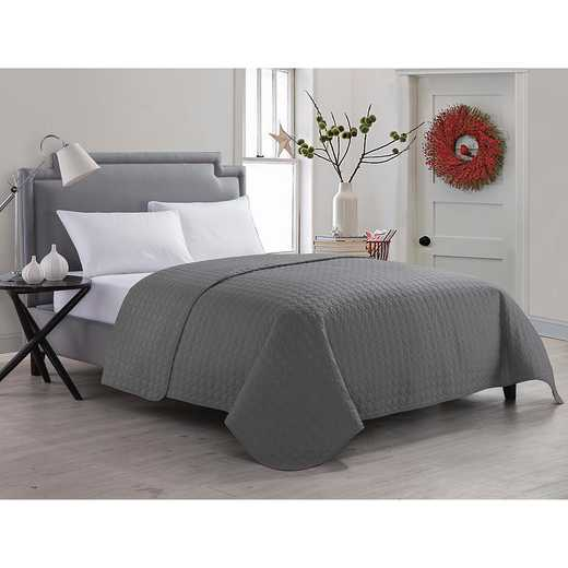 Jackson Embossed Circle Quilt- Gray