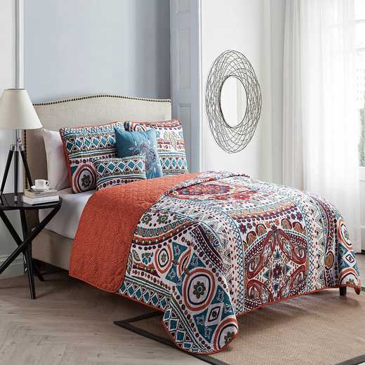 NAT-5QT-FUQU-IN-F1: VCNY NATASHA 5PC F/Q QUILT ST Multicolored