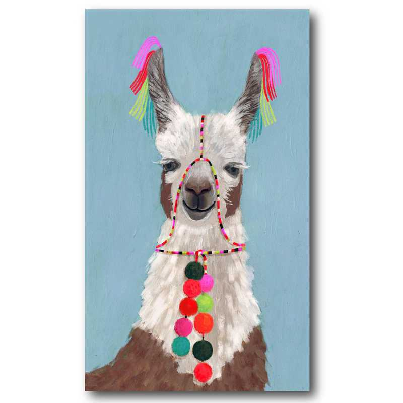 WEB-G302: Adorned Llama I Canvas 12x18