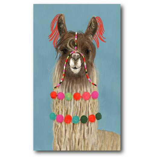 WEB-G305: Adorned Llama IV Canvas 12x18