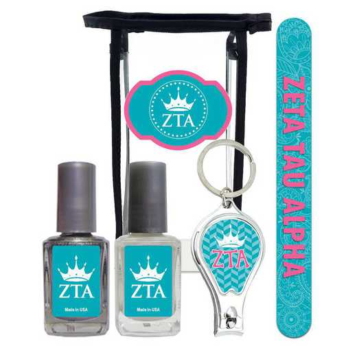 GRK-ZTA-MPPK: Manicure pedicure kit 2 nail polish file clipper gift bag