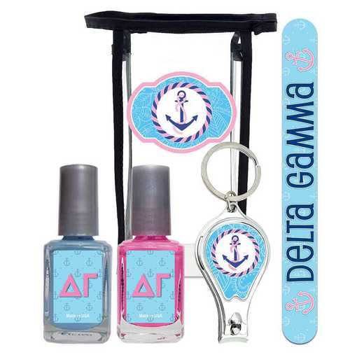 GRK-DG-MPPK: Manicure pedicure kit 2 nail polish file clipper gift bag