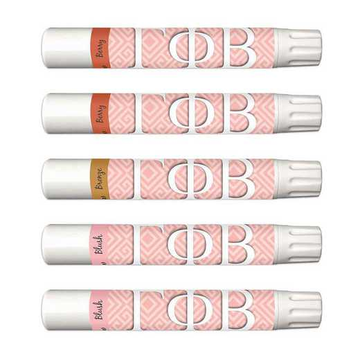 GRK-GPB-5MXLS: Lip shimmer soft pink blush color with aloe beeswaxes