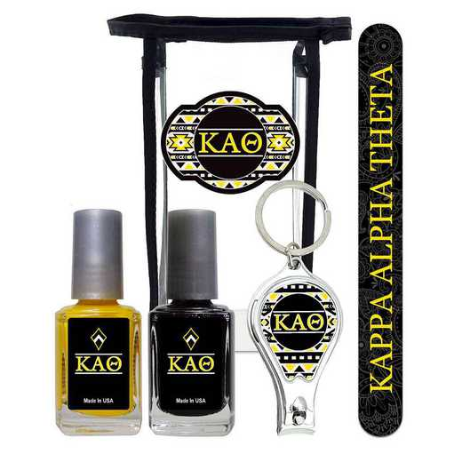 GRK-KAT-MPPK: Manicure pedicure kit 2 nail polish file clipper gift bag