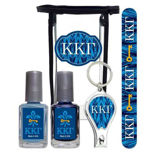 GRK-KKG-MPPK: Manicure pedicure kit 2 nail polish file clipper gift bag