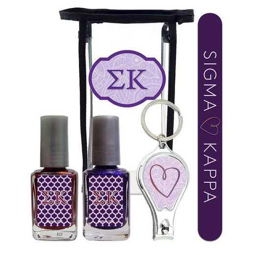 GRK-SK-MPPK: Manicure pedicure kit 2 nail polish file clipper gift bag