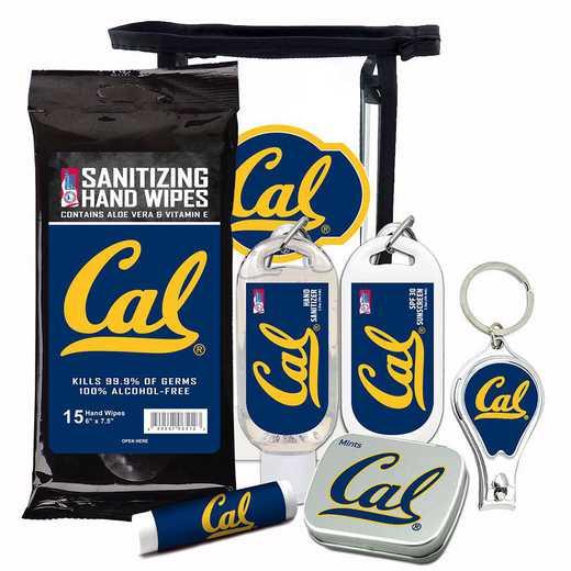 CA-UCB-6PPK: California Berkeley Bears Fan Kit with Mint Tin- Clippers- Sanitizer- Lip Balm- Sunscreen- Wipes