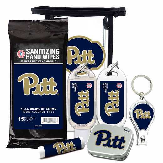 PA-UP-6PPK: Pittsburgh Panthers Fan Kit with Mint Tin- Clippers- Sanitizer- Lip Balm- Sunscreen- Wipes