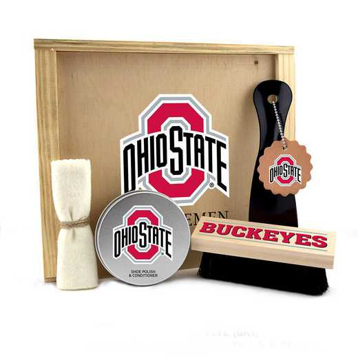 OH-OSU-GK1: Ohio State Buckeyes Gentlemen's Shoe Care Gift Box