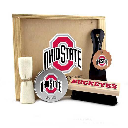 OH-OSU-GK1: Ohio State Buckeyes Gentlemen's Shoe Care Gift Box