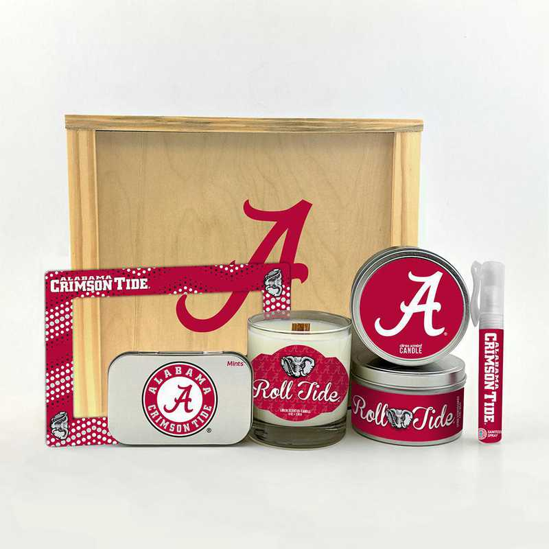 AL-UA-HWGK: Alabama Crimson Tide House-Warming Gift Box (6 Pieces)