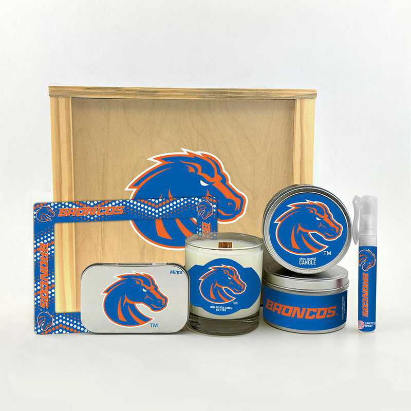 ID-BSU-HWGK: Boise State Broncos House-Warming Gift Box (6 Pieces)