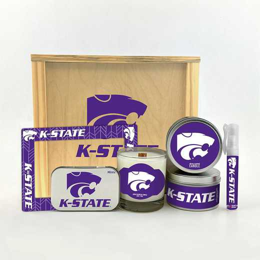 KS-KSU-HWGK: Kansas State Wildcats House-Warming Gift Box (6 Pieces)