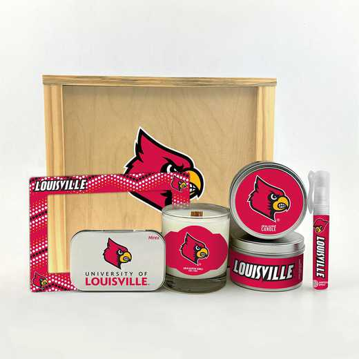 KY-UL-HWGK: Louisville Cardinals House-Warming Gift Box (6 Pieces)