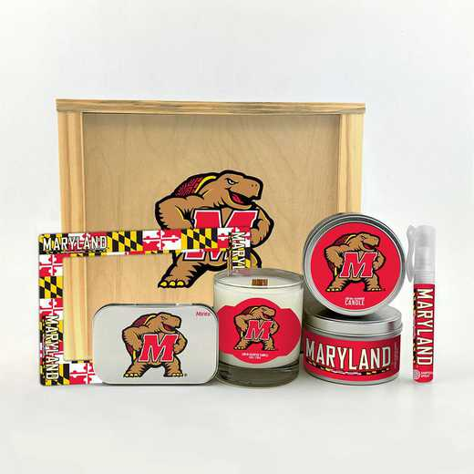 MD-UM-HWGK: Maryland Terrapins House-Warming Gift Box (6 Pieces)