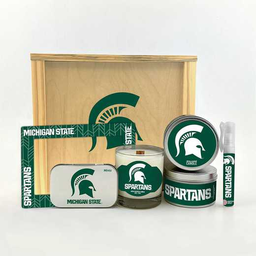 MI-MSU-HWGK: Michigan State Spartans House-Warming Gift Box (6 Pieces)