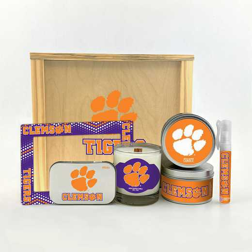 SC-CL-HWGK: Clemson Tigers House-Warming Gift Box (6 Pieces)
