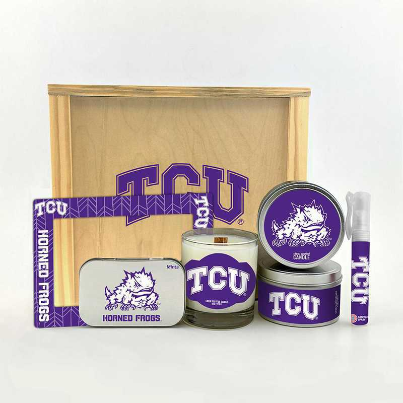 TX-TCU-HWGK: Texas Christian Horned Frogs House-Warming Gift Box (6 Pieces)