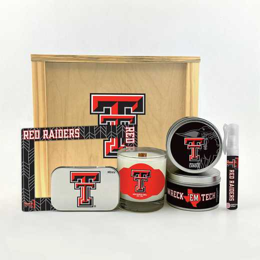 TX-TXT-HWGK: Texas Tech Red Raiders House-Warming Gift Box (6 Pieces)