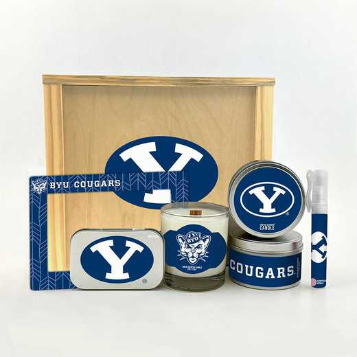 UT-BYU-HWGK: Brigham Young Cougars House-Warming Gift Box (6 Pieces)