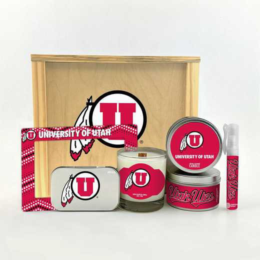 UT-UUT-HWGK: Utah Utes House-Warming Gift Box (6 Pieces)