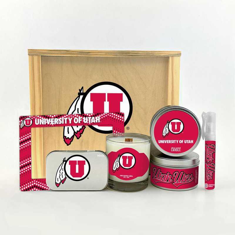 UT-UUT-HWGK: Utah Utes House-Warming Gift Box (6 Pieces)