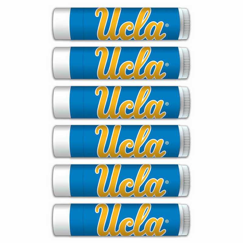 CA-UCLA-6PKSM: UCLA Bruins Premium Lip Balm 6-Pack with SPF 15- Beeswax- Coconut Oil- Aloe Vera
