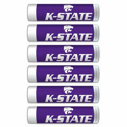 KS-KSU-6PKSM: Kansas State Wildcats Premium Lip Balm 6-Pack with SPF 15- Beeswax- Coconut Oil- Aloe Vera