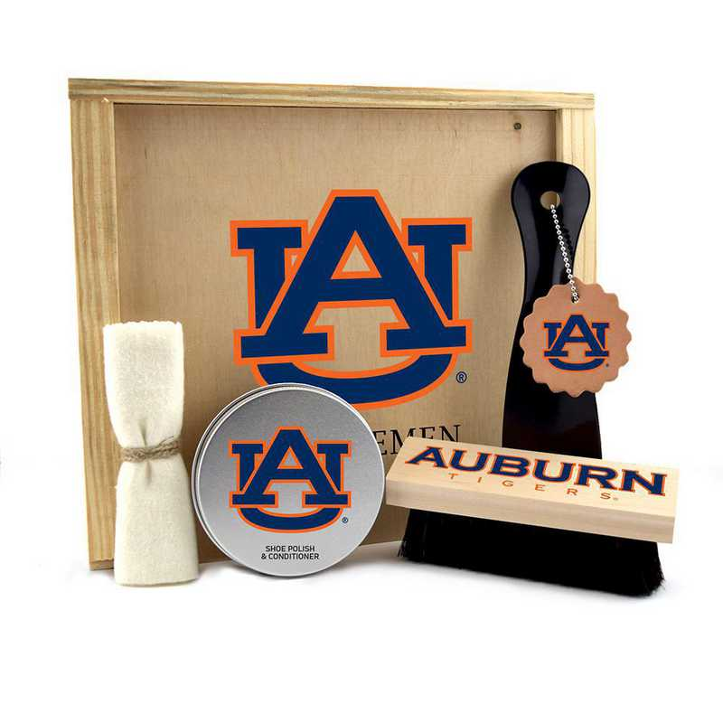 AL-AU-GK1: Auburn Tigers Gentlemen's Shoe Care Gift Box