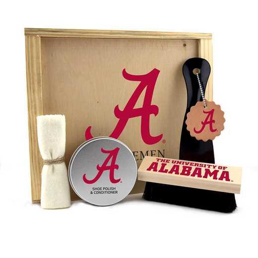 AL-UA-GK1: Alabama Crimson Tide Gentlemen's Shoe Care Gift Box