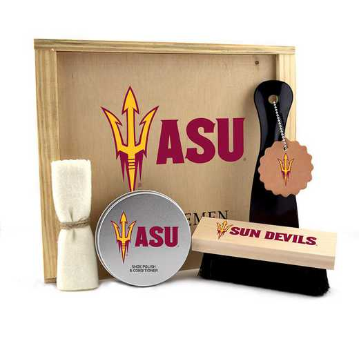 AZ-ASU-GK1: Arizona State Sun Devils Gentlemen's Shoe Care Gift Box