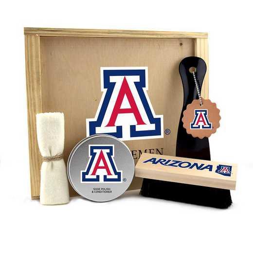 AZ-UA-GK1: Arizona Wildcats Gentlemen's Shoe Care Gift Box