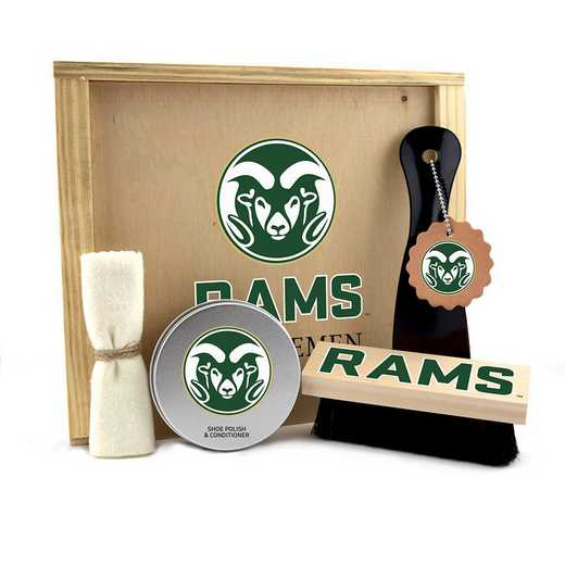 CO-CSU-GK1: Colorado State Rams Gentlemen's Shoe Care Gift Box