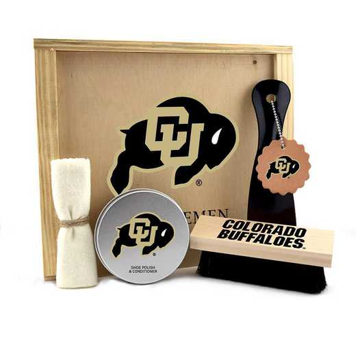 CO-UC-GK1: Colorado Buffaloes Gentlemen's Shoe Care Gift Box