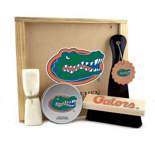 FL-UF-GK1: Florida Gators Gentlemen's Shoe Care Gift Box