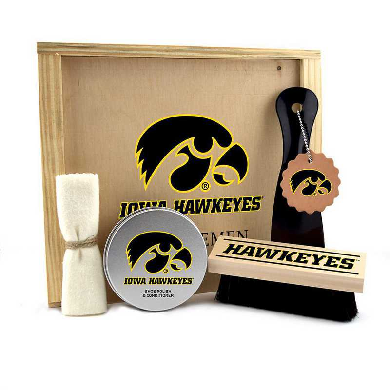 IA-UI-GK1: Iowa Hawkeyes Gentlemen's Shoe Care Gift Box
