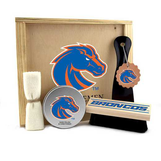 ID-BSU-GK1: Boise State Broncos Gentlemen's Shoe Care Gift Box