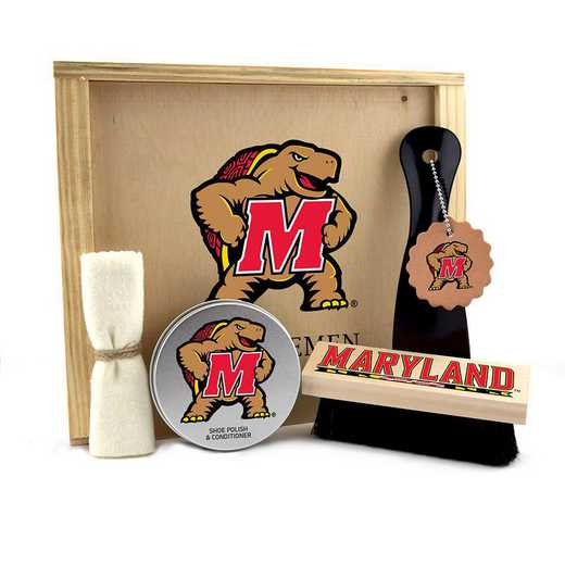 MD-UM-GK1: Maryland Terrapins Gentlemen's Shoe Care Gift Box