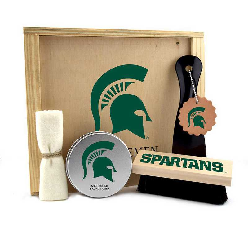 MI-MSU-GK1: Michigan State Spartans Gentlemen's Shoe Care Gift Box