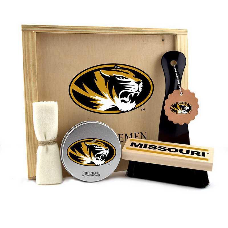MO-UM-GK1: Missouri Tigers Gentlemen's Shoe Care Gift Box