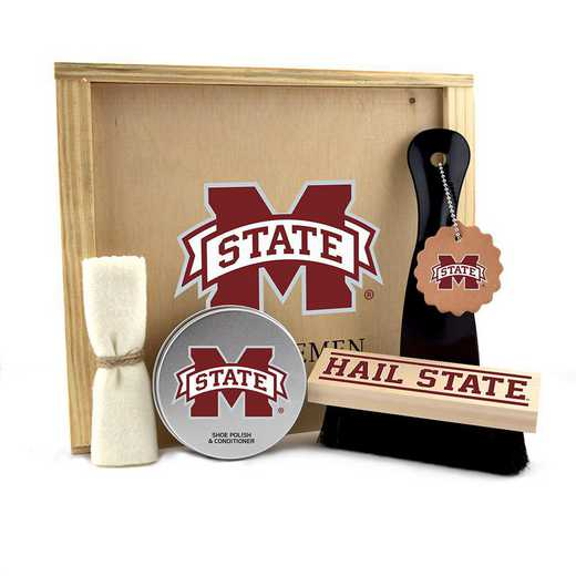 MS-MSU-GK1: Mississippi State Bulldogs Gentlemen's Shoe Care Gift Box
