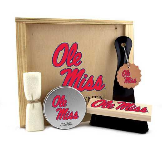 MS-OM-GK1: Mississippi (Ole Miss) Rebels Gentlemen's Shoe Care Gift Box