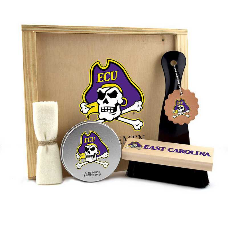 NC-ECU-GK1: East Carolina Pirates Gentlemen's Shoe Care Gift Box