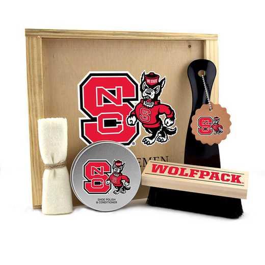 NC-NCS-GK1: North Carolina State Wolfpack Gentlemen's Shoe Care Gift Box